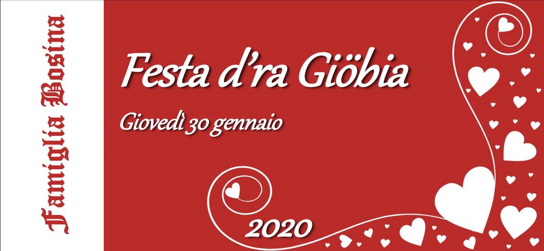Festa della Giobia 30 gennaio 2020
